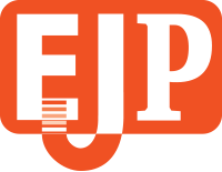English Junction Press Logo in Orange background color